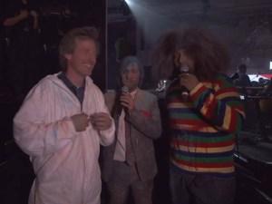 Director Spike Jonze with hosts Jason Schwartzman and Reggie